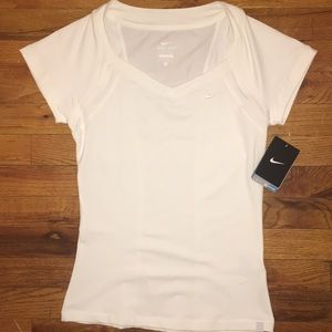 NWT Nike White Dry Fit tee shirt, size small